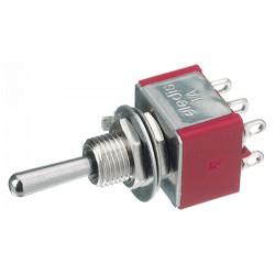 tuimelschakelaar mini  2x om   gat-6.5mm