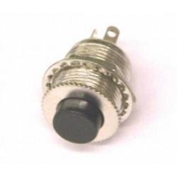 puls-drukschak 125V1A 1x om  zwart  gat-12mm