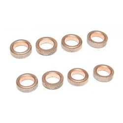 Brass bearings 5x8x2.5mm 1/12 racers 12st.