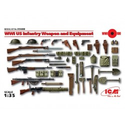 WWII US INF. WEAPON AND EQUIPMENT 1/35