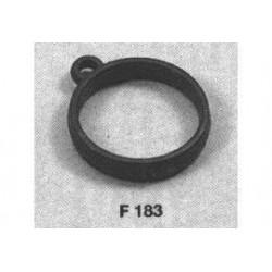 pvc mastring zwart 12mm 20st