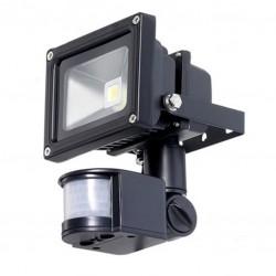 30W LED Buitenlamp zwart CW PIR