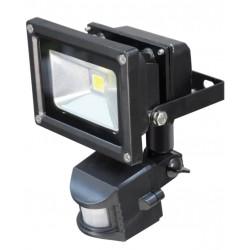 10W LED buitenlamp zwart +PIR CW