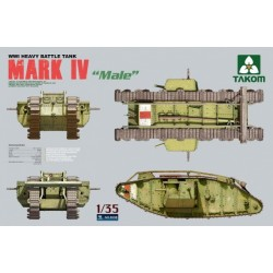 TAKOM WWI MARK IV TANK 1/35