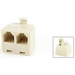 Adapter m-f-f   rj-11 6p4c