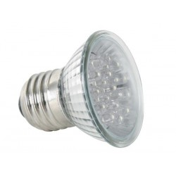 E27 230 volt ledlamp wit