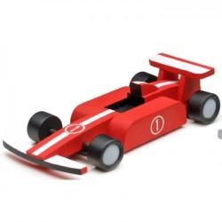 Houtbouw geschenkset formule racer 19cm.
