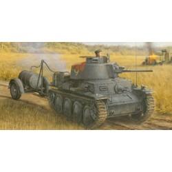 Pz.Kpfw.38(t) Ausf.S mit fuel Drum Trailer(smart kit) 1/35