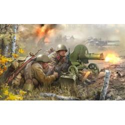 WWII SOVIET GUN MAXIM 41-43 1/72