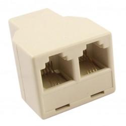 Adapter f-f-f   rj-11 6p4c