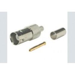Bnc plug female 5mm krimp