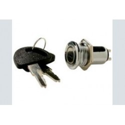 Sleutelschakelaar  mini 1x aan metaal  gat-16mm