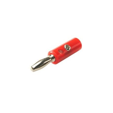 Banaansteker low cost 4mm rood