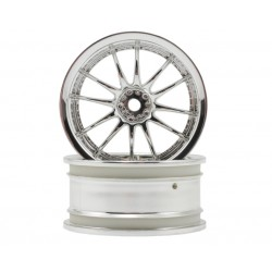 1/10 chrome velg 26mm 6mm offset 2st.