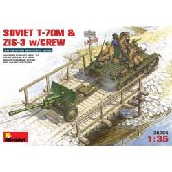 SOVIET T-70M & ZIS-3 w/CREW 1/35