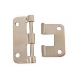 Hinge white metal 58x46mm