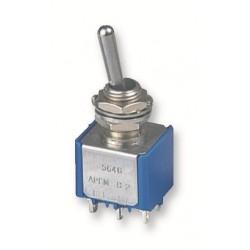 tuimelschakelaar mini  2x  aan(aan)   gat-6.5mm