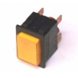 Drukschakelaar 2XA/U 250V16A ne oranje gat-22x30mm