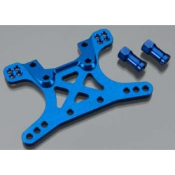 Shock tower, front, 7075-T6 aluminum (blue-anodized)