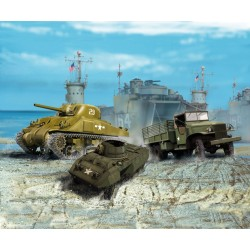US ARMY VEHICLES (WWII) 1/144
