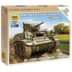 US LIGHT TANK M3A1 STUART 1/100