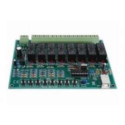USB 8x16A relaiskaart/softw.