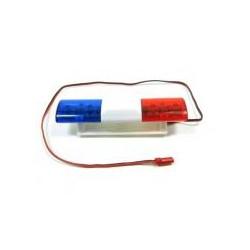 1/10-1/14 zwaailicht amerikaanse politie met LED 4,8-6V 106x27x26 mm