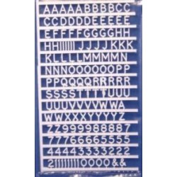 Letters en cijfers 6mm