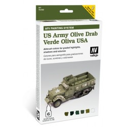 AFV armour painting system olive drab 6X8ML.