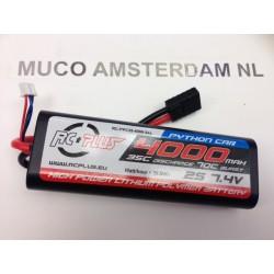 LC lipo 2S 7,4V 4000mAh 35c hardcase (traxxas connector)