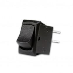 puls-drukschakelaar 250v 1A zwart  gat-19x12mm