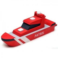 Houtbouw geschenkset patrolboot 19cm