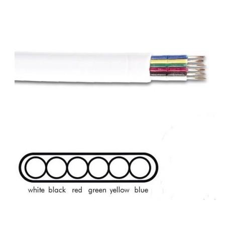 Kabel 6ad plat  awg26 wt litze 6p6c
