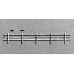 reling 25cm 14mm prijs p/stuk