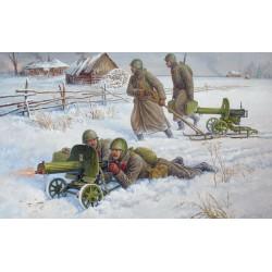 SOVIET MACHINE GUN MAXIM 41-43 1/72