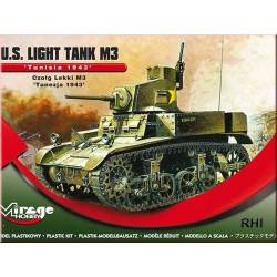 WWII U.S. Light Tank M3 TUNISIA 1943 1/72