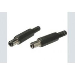 Spanningsplug 3.1x6.3x10mm pvc