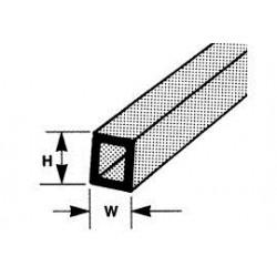 ABS kokerprofiel 6,4 x 4,8 mm