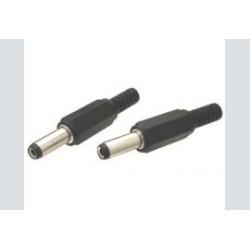 Spanningsplug 2.5x5.5x15mm pvc