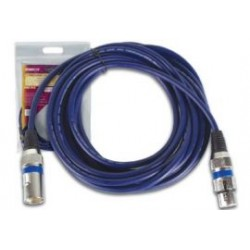 XLR kabel 6 mtr m/f