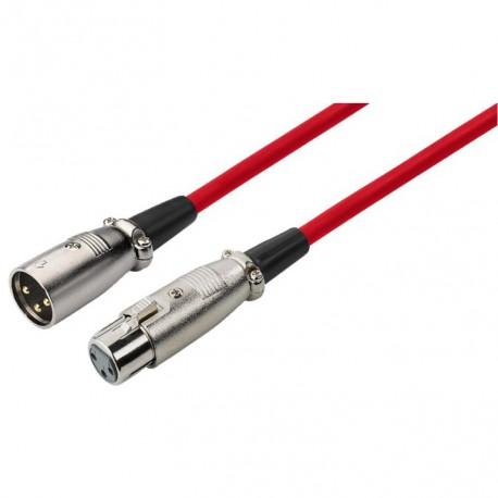 XLR kabel ml/fm bal. rood 6m