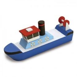 Houtbouw geschenkset sleepboot 19cm