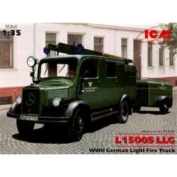 WWII GERMAN LIGHT FIRE TRUCK L1500S LLG 1/35