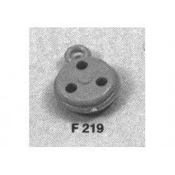 jufferblok pvc bruin 7mm 50st