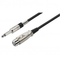 Microfoonkabel XLR-jack 12m zw