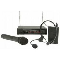 LC VHF 2x draadloze microfoons