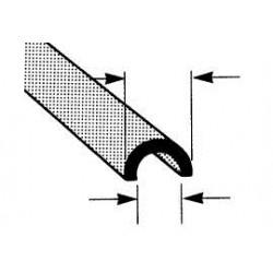 ABS halfrond open profiel 5 mm
