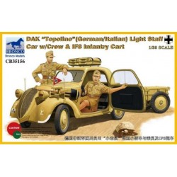 "DAK ""TOPOLINO"" LIGHT STAFF CAR W/CREWS&IF8 1/35"
