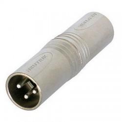 Xlr adapter     3p male/male