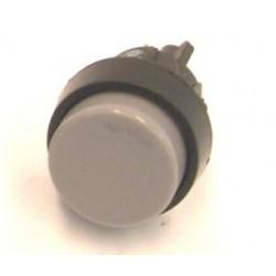 puls-drukschakelaar 250V 2A 1x maak grijs  gat-16mm